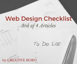 Web Design Checklist (3 of 4)