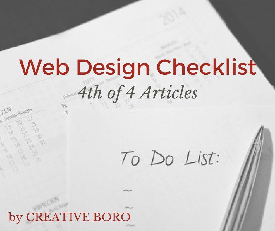 Web Design Checklist (4 of 4) | CREATIVE BORO| Murfreesboro | Franklin | Nashville