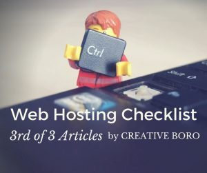 Web Hosting Checklist (3 of 3)