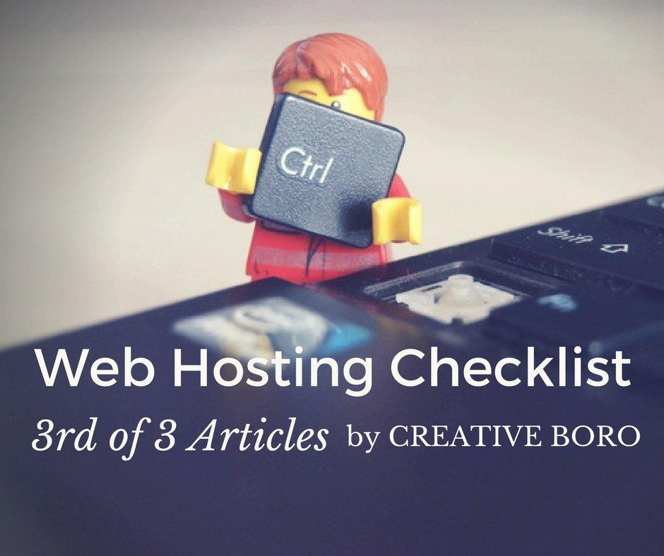 hosting checklist