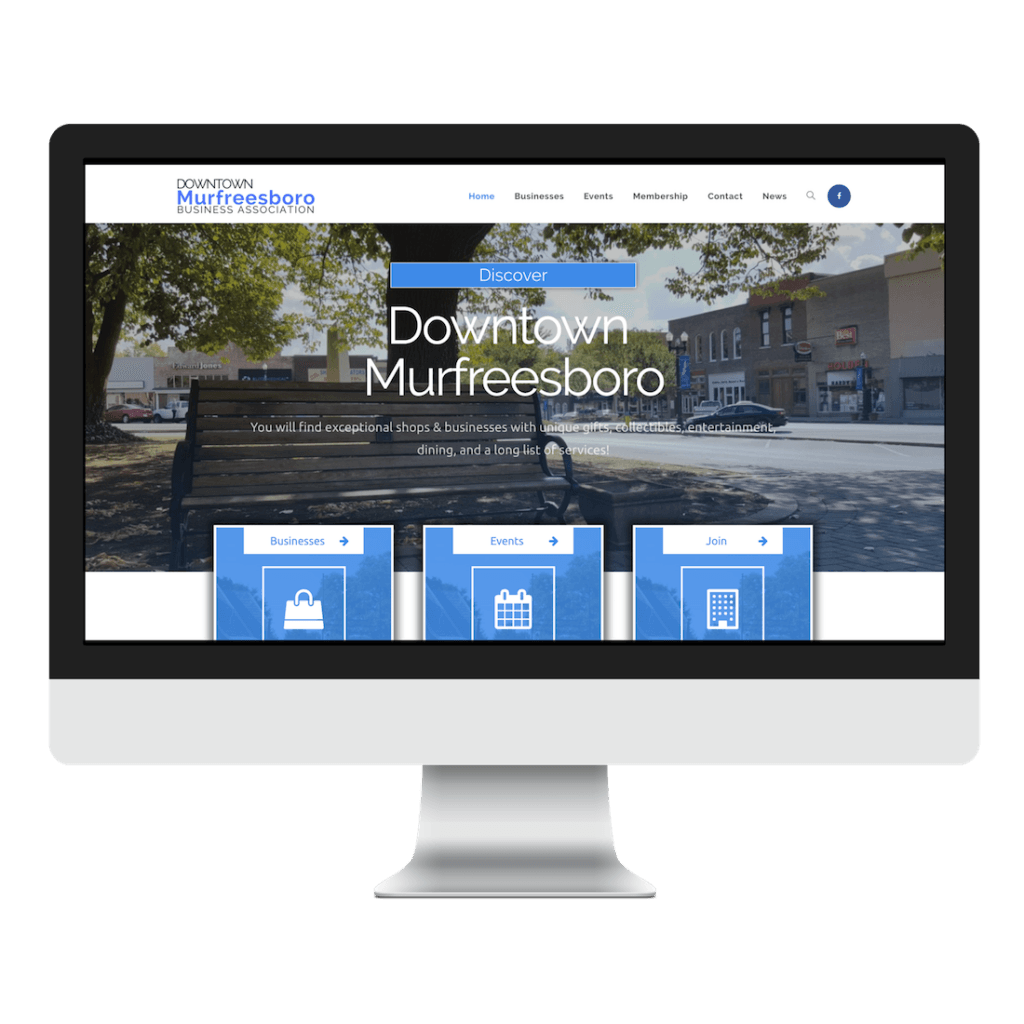 Downtown Murfreesboro Business Association Website Design