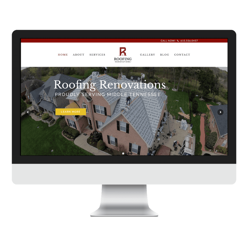 Roofing Renovations Website Design